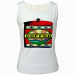 Coffee Tin A Classic Illustration Women s White Tank Top