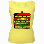 Coffee Tin A Classic Illustration Women s Yellow Tank Top