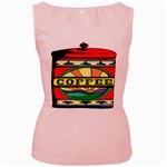 Coffee Tin A Classic Illustration Women s Pink Tank Top