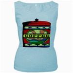 Coffee Tin A Classic Illustration Women s Baby Blue Tank Top