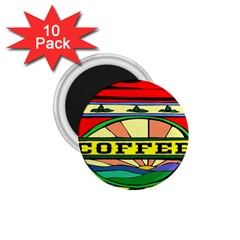 Coffee Tin A Classic Illustration 1 75  Magnets (10 Pack)  by Nexatart