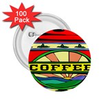 Coffee Tin A Classic Illustration 2.25  Buttons (100 pack)