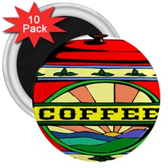 Coffee Tin A Classic Illustration 3  Magnets (10 Pack)  by Nexatart