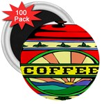 Coffee Tin A Classic Illustration 3  Magnets (100 pack)