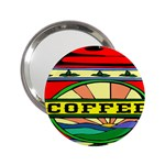 Coffee Tin A Classic Illustration 2.25  Handbag Mirrors