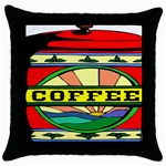 Coffee Tin A Classic Illustration Throw Pillow Case (Black)