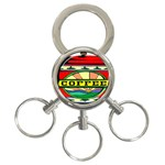 Coffee Tin A Classic Illustration 3-Ring Key Chains