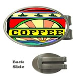 Coffee Tin A Classic Illustration Money Clips (Oval)