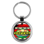 Coffee Tin A Classic Illustration Key Chains (Round)