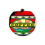Coffee Tin A Classic Illustration Magnet 3  (Round)