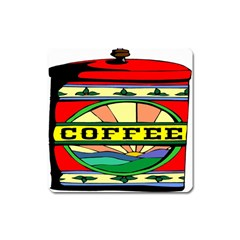 Coffee Tin A Classic Illustration Square Magnet by Nexatart