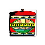 Coffee Tin A Classic Illustration Square Magnet