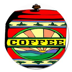 Coffee Tin A Classic Illustration Magnet 5  (round) by Nexatart