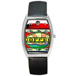 Coffee Tin A Classic Illustration Barrel Style Metal Watch