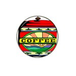 Coffee Tin A Classic Illustration Hat Clip Ball Marker (4 pack)
