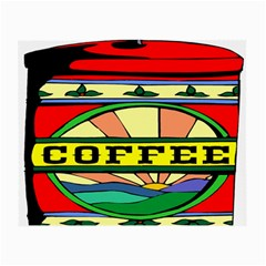 Coffee Tin A Classic Illustration Small Glasses Cloth