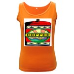 Coffee Tin A Classic Illustration Women s Dark Tank Top