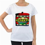 Coffee Tin A Classic Illustration Women s Loose-Fit T-Shirt (White)