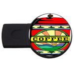 Coffee Tin A Classic Illustration USB Flash Drive Round (4 GB)