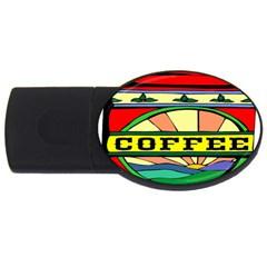 Coffee Tin A Classic Illustration Usb Flash Drive Oval (4 Gb)