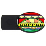 Coffee Tin A Classic Illustration USB Flash Drive Oval (4 GB)