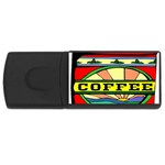 Coffee Tin A Classic Illustration USB Flash Drive Rectangular (4 GB)