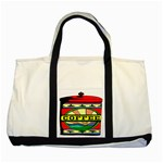 Coffee Tin A Classic Illustration Two Tone Tote Bag