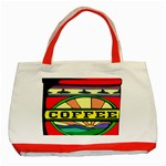 Coffee Tin A Classic Illustration Classic Tote Bag (Red)