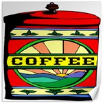 Coffee Tin A Classic Illustration Canvas 20  x 20