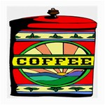 Coffee Tin A Classic Illustration Medium Glasses Cloth