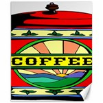 Coffee Tin A Classic Illustration Canvas 11  x 14