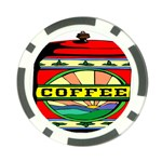 Coffee Tin A Classic Illustration Poker Chip Card Guard