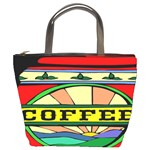 Coffee Tin A Classic Illustration Bucket Bags