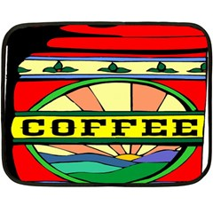 Coffee Tin A Classic Illustration Fleece Blanket (mini) by Nexatart