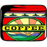 Coffee Tin A Classic Illustration Double Sided Fleece Blanket (Mini)
