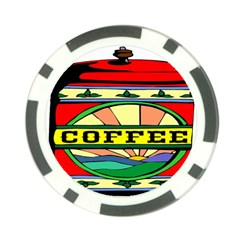 Coffee Tin A Classic Illustration Poker Chip Card Guard (10 Pack) by Nexatart