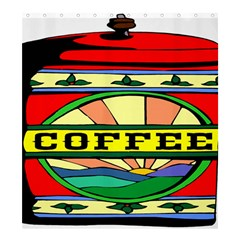 Coffee Tin A Classic Illustration Shower Curtain 66  X 72  (large)  by Nexatart