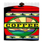 Coffee Tin A Classic Illustration Shower Curtain 66  x 72  (Large)