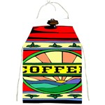 Coffee Tin A Classic Illustration Full Print Aprons