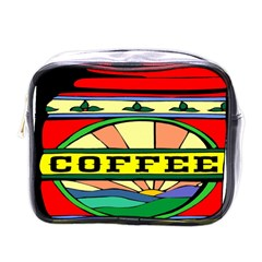 Coffee Tin A Classic Illustration Mini Toiletries Bags by Nexatart