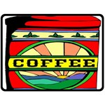 Coffee Tin A Classic Illustration Fleece Blanket (Large)