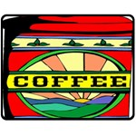 Coffee Tin A Classic Illustration Fleece Blanket (Medium)