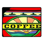 Coffee Tin A Classic Illustration Fleece Blanket (Small)
