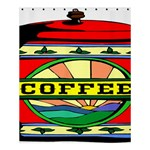 Coffee Tin A Classic Illustration Shower Curtain 60  x 72  (Medium)