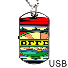 Coffee Tin A Classic Illustration Dog Tag Usb Flash (two Sides)