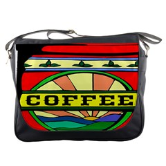 Coffee Tin A Classic Illustration Messenger Bags by Nexatart