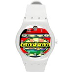 Coffee Tin A Classic Illustration Round Plastic Sport Watch (M)