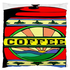 Coffee Tin A Classic Illustration Large Cushion Case (two Sides) by Nexatart