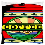 Coffee Tin A Classic Illustration Large Cushion Case (Two Sides)