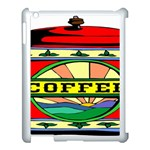 Coffee Tin A Classic Illustration Apple iPad 3/4 Case (White)